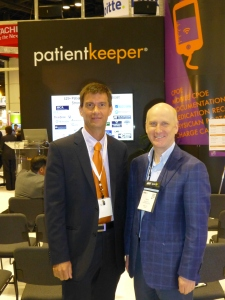 With PatientKeeper CEO Paul Brient