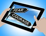 fear-courage-tablet-shows-scared-or-courageous-100287697